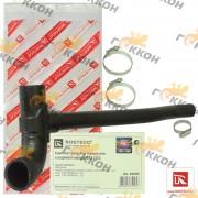 Патрубок термостата и водяного насоса ВАЗ 2123 (1патрубок+3хомута)