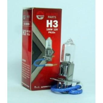 Лампа H3 12V 100W PK22S