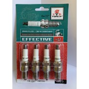 Свеча зажигания EFFECTIVE+U F6RTCU ВАЗ 2101-10, 2121,2130, ГАЗ 3302, ЗАЗ 1102, Daewoo Sens, Lanos, Chevrolet Aveo (компл. 4шт. / блист.)